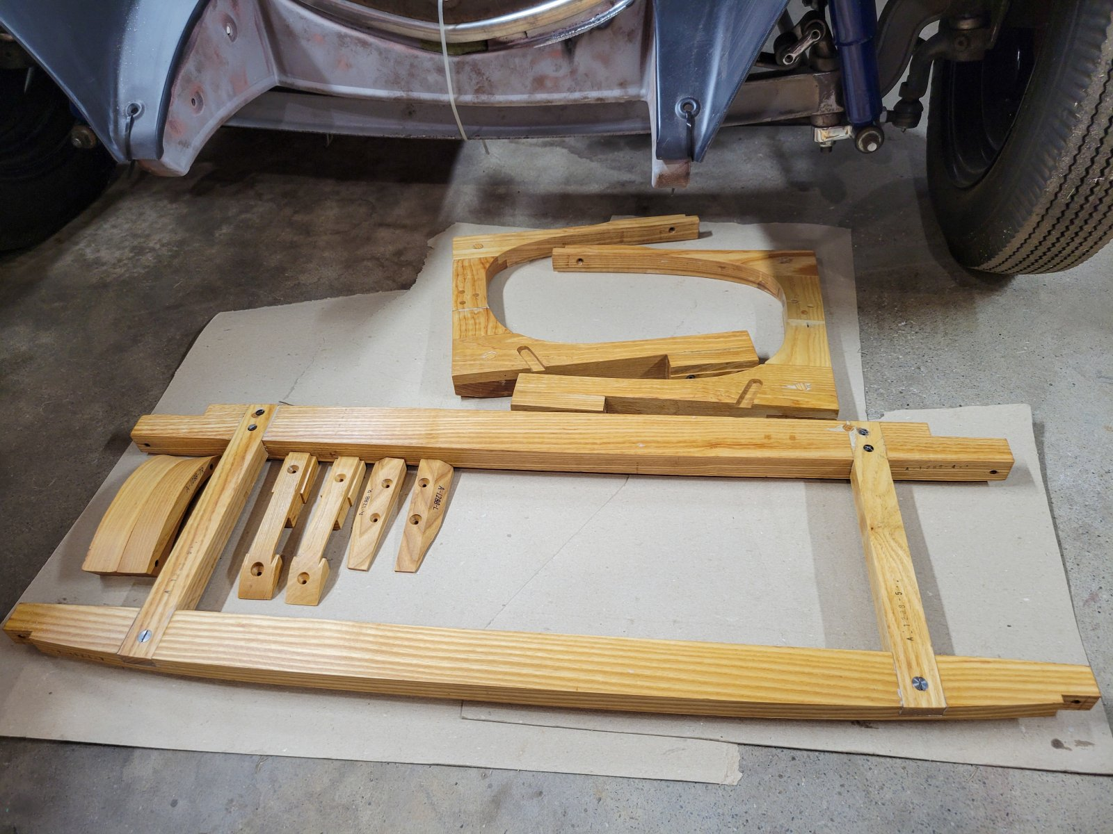 3rd Coat Set Out To Dry 30 Chopped Model A Wood .jpg