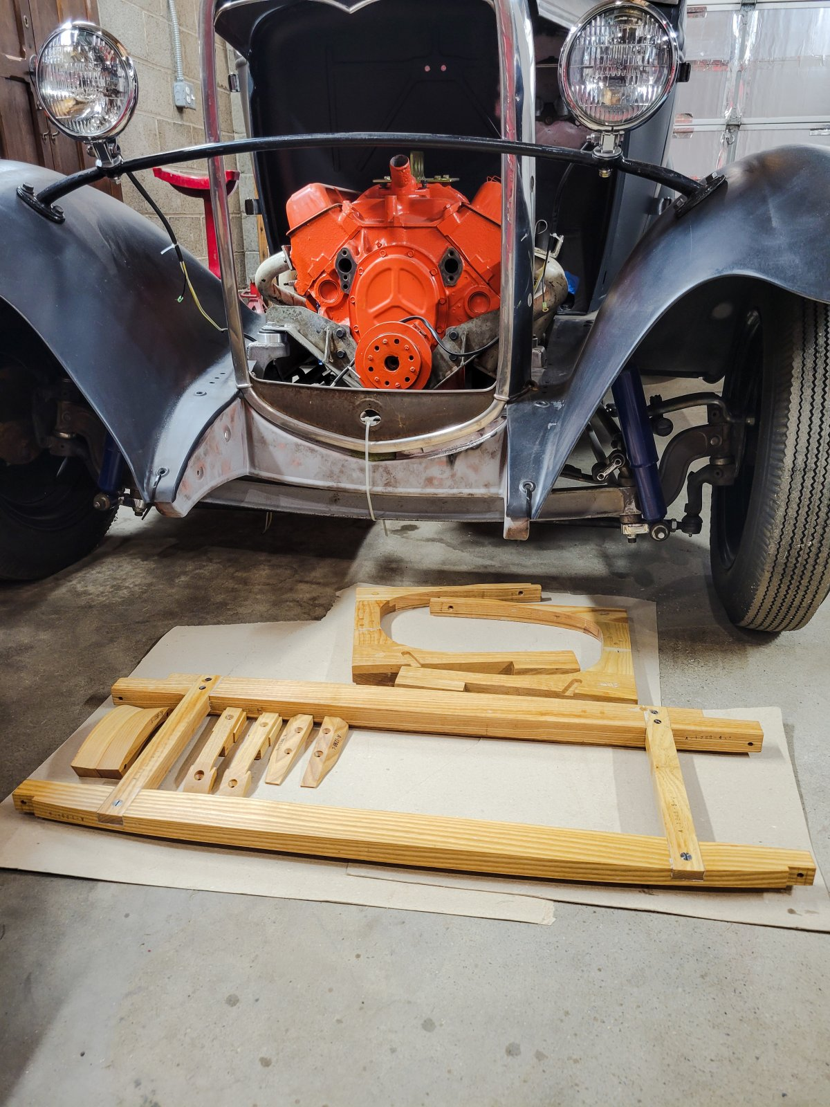 3rd Coat Set Out To Dry Model A Coupe Wood Kit .jpg