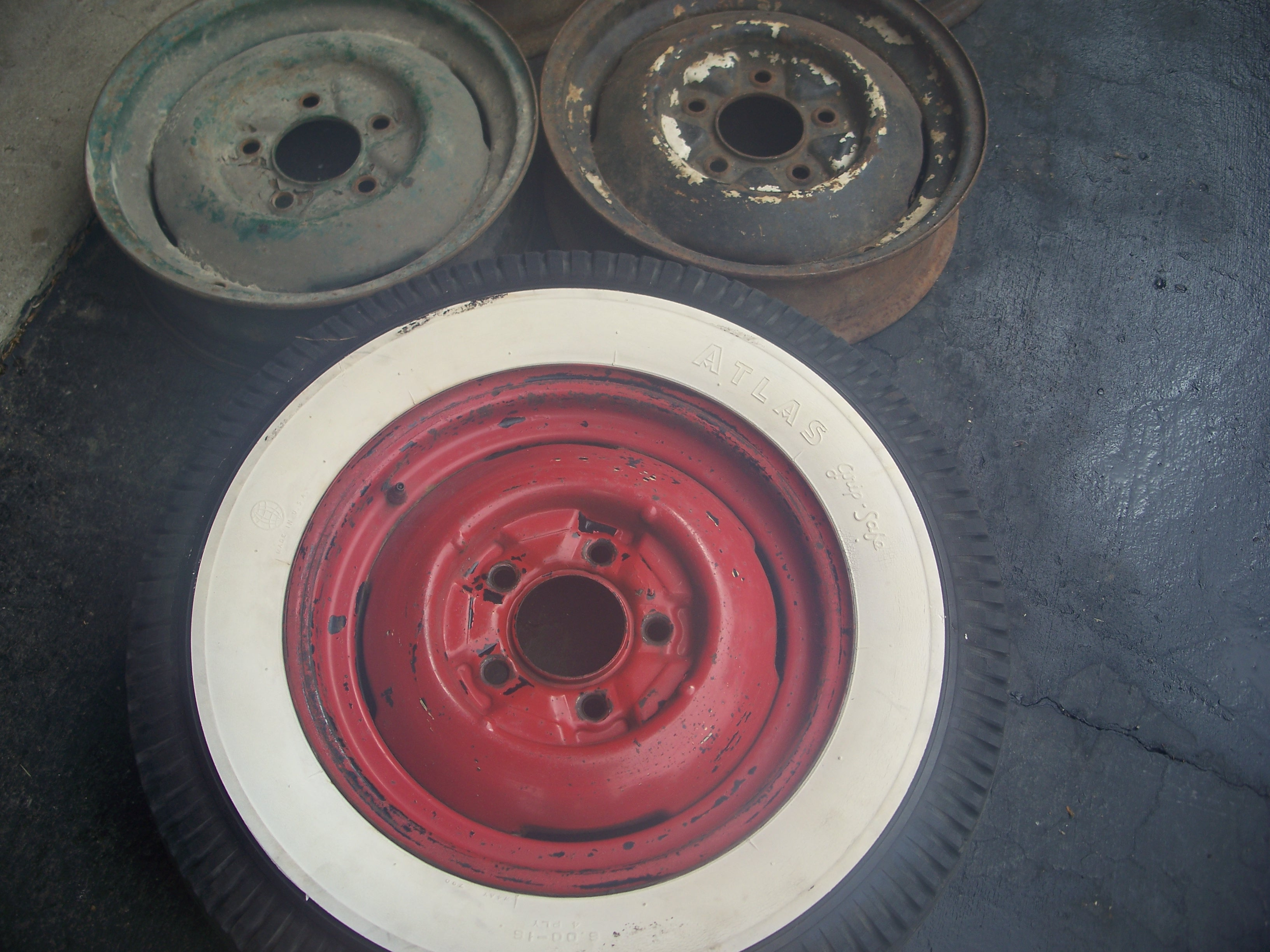 "Early Ford Store >> Have six 1940-48 Ford 16"" steel wheels $240 