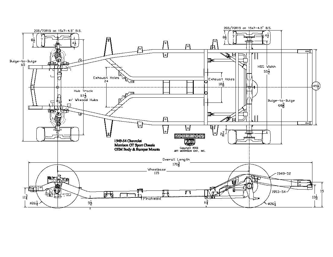 49 54 Chevy Passenger Car Chassis Diagram on 1994 suburban engine