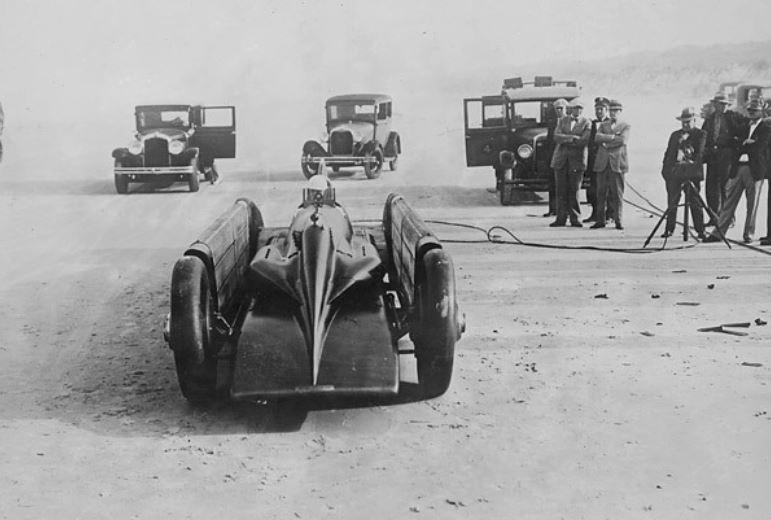 49 daytona 1929 photo, British driver Major H.JPG