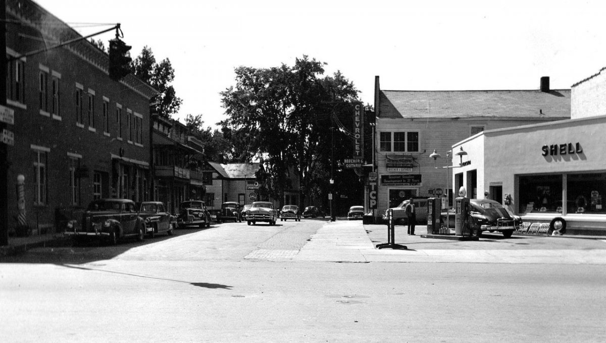 52 Church and Main Street… Granville, NY circa 1954.jpg