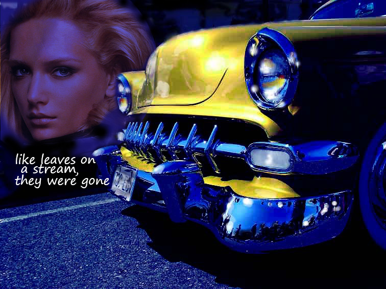 54 CHEV GRILL AND BLONDE POSTER.jpg