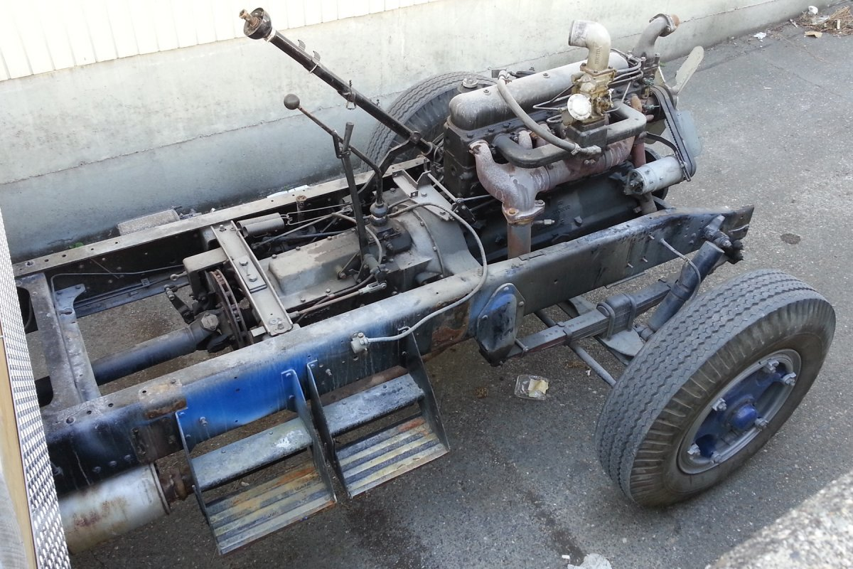 1954 GMC Superb Flatbed Chassis w/ 503 Eng! Make a Rat Rod