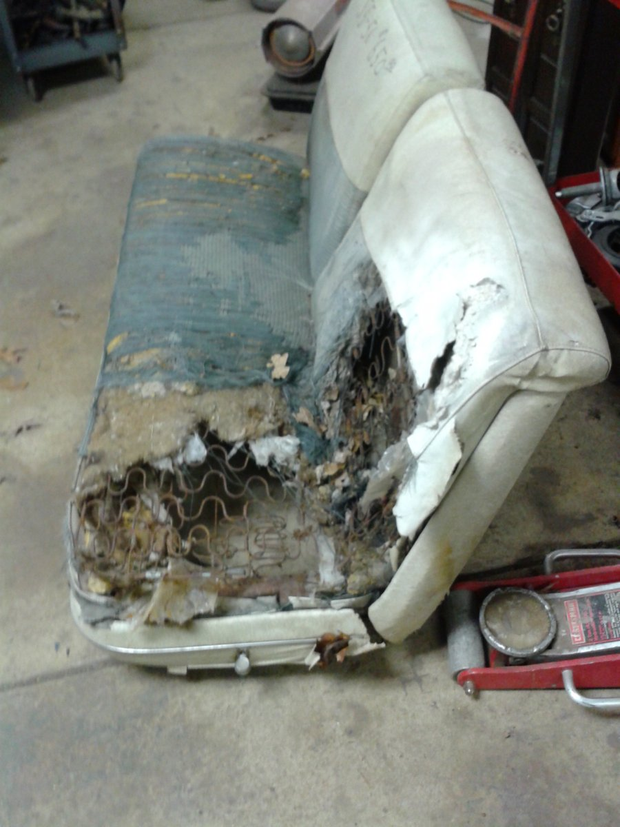 55 Chevy 2 Dr Bench Seat The H A M B