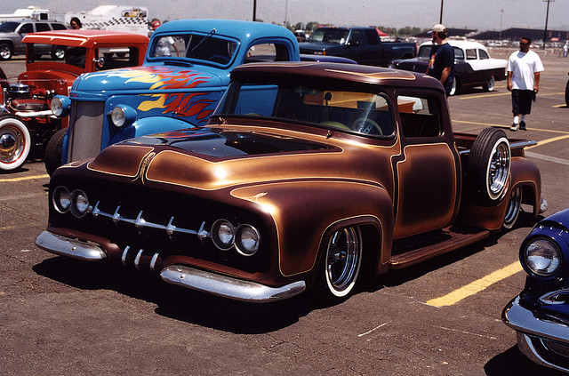 56 Ford truck brown panel paint.png