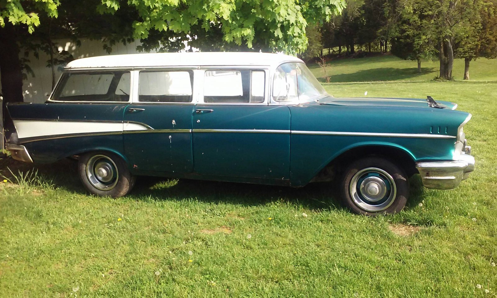 1957 chevy 4 door wagon the h a m b for 1957 chevy 4 door wagon for sale