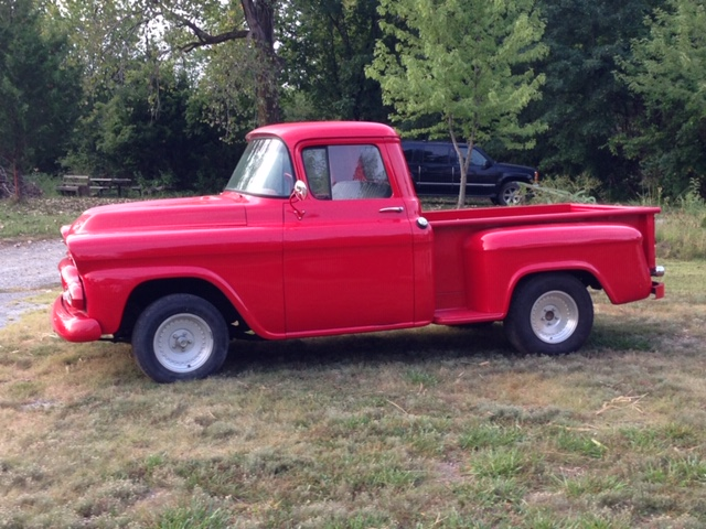 55 59 Chevy Truck Owners Tire And Wheel Size The Hamb