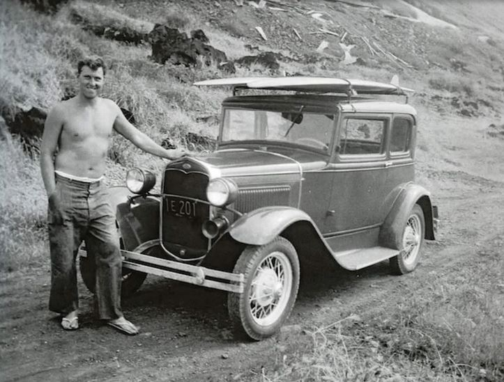 6 he legendary Walter Hoffman and his Ford Model A and surfboard of course....JPG