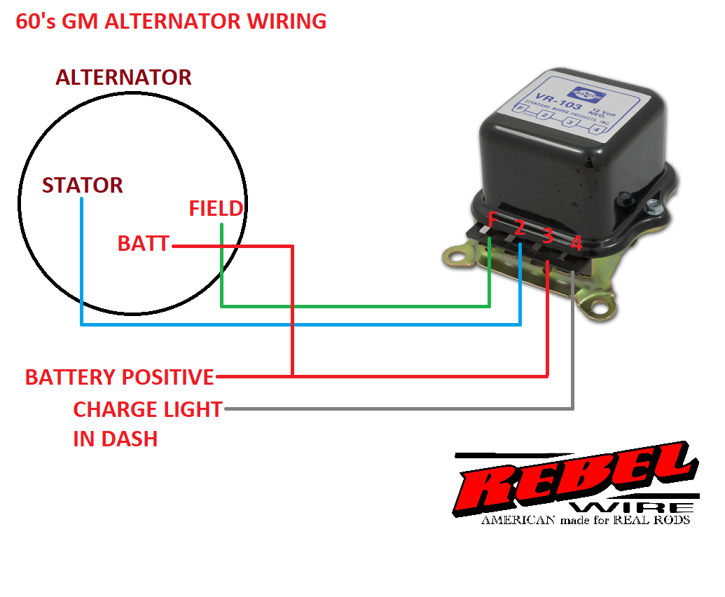 Alternator Wiring Diagram As Well 2wire Gm Alternator Wiring Diagram