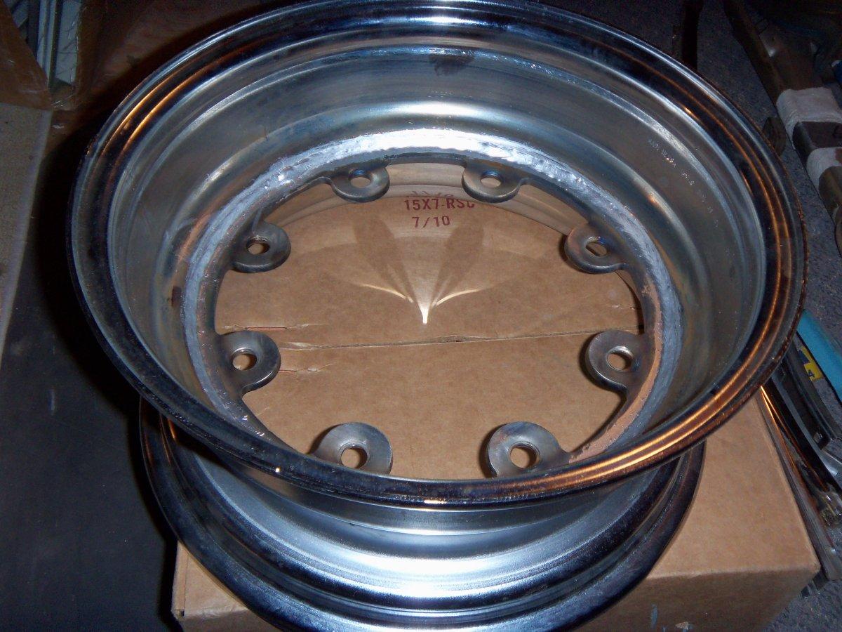 Pontiac new set (4) 15 inch 8 lug rims chrome | The H.A.M.B.