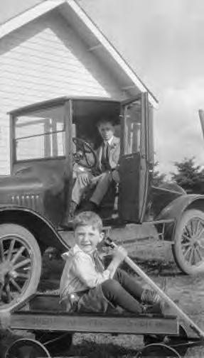 62 Boy with Sherwood Spring coaster wagon 1920.JPG