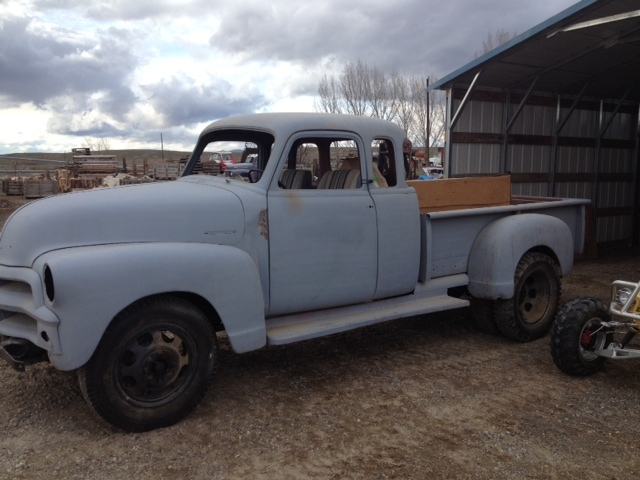 1954 Chevy 3800 Ex Cab 7 Window 1 Ton Dually The H A M B