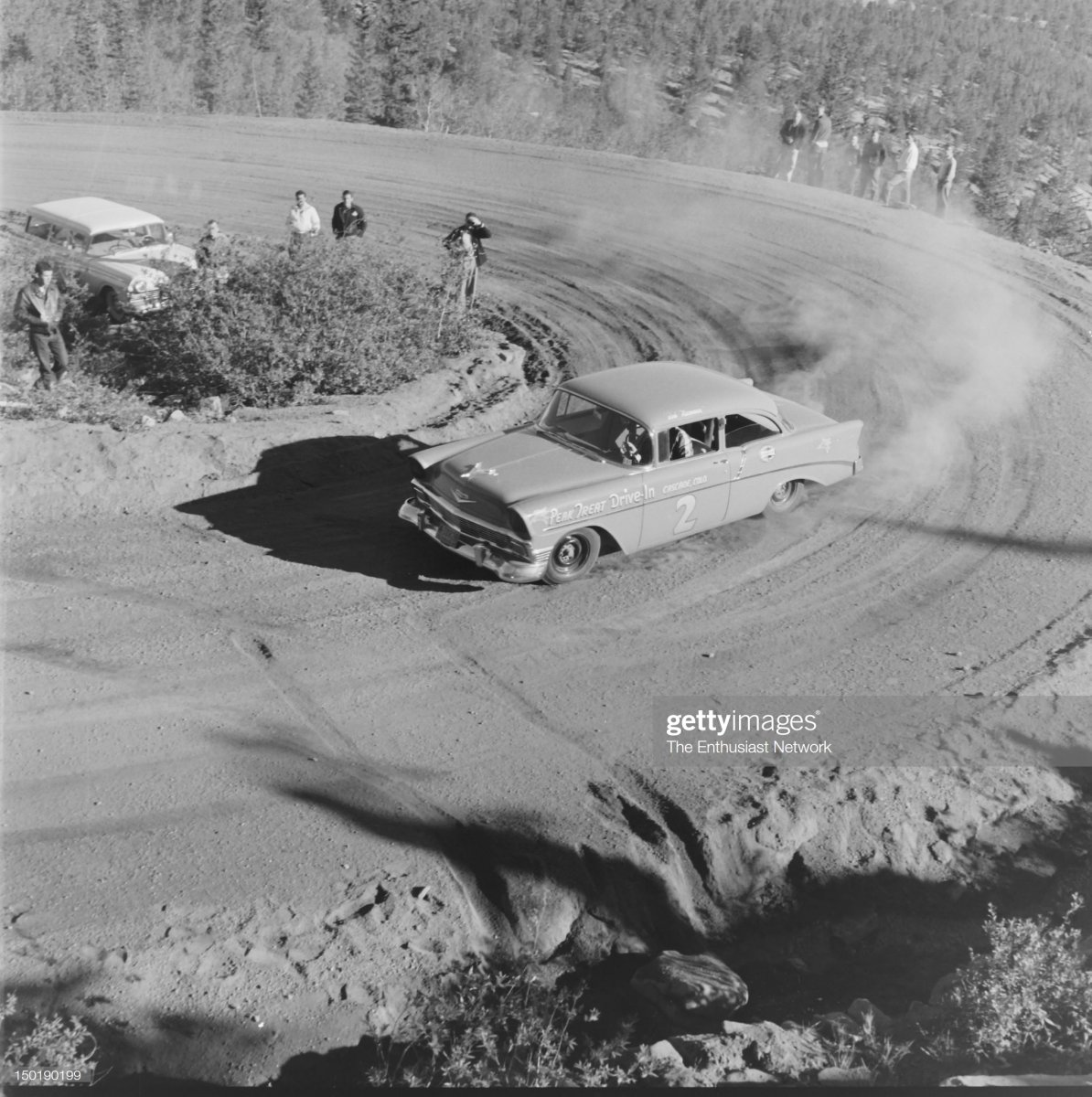 63 1957 Pikes Peak Hill Climb. Bob Newman in his 1956 Chevrolet,.jpg