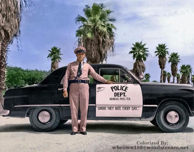 64 1949 Arnansas Pass, Texas Police   dig the logo.jpg