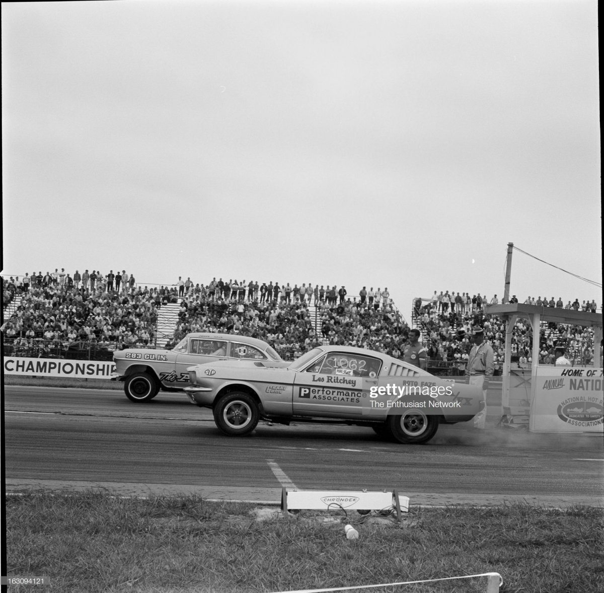 65 nat  Les Richey, in the 1965 Ford Mustang fa.jpg