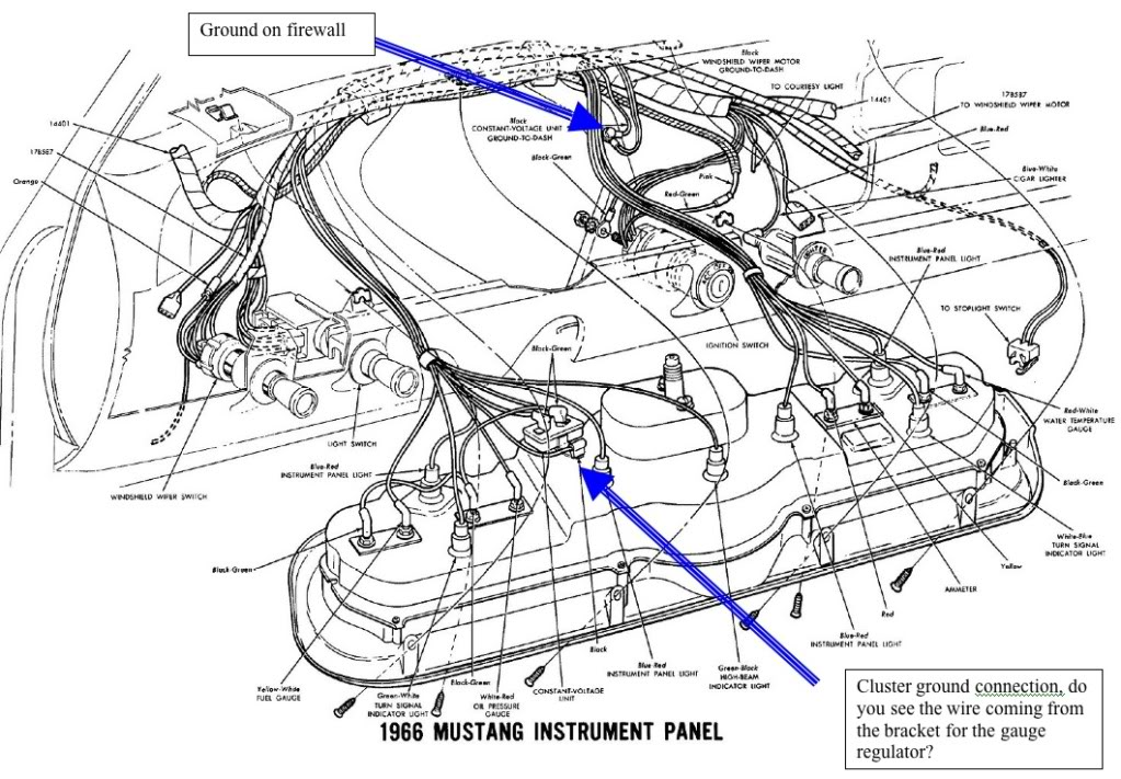 1966 Mustang Dash Wiring Diagram 1965 Under - Schematics Wiring ...
