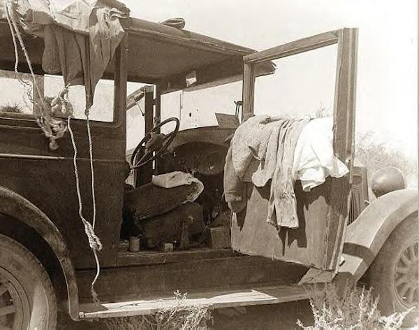 77 Depression family of 9_ Their car, 1936.JPG