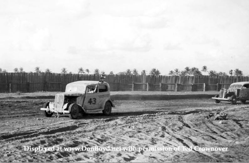 7a Ted Crownover's dad racing his 1934 Ford stock car.JPG