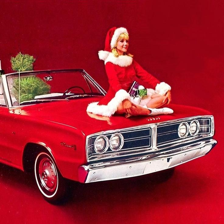 Art Inspiration Traditional Hot Rod Custom Christmas Greeting