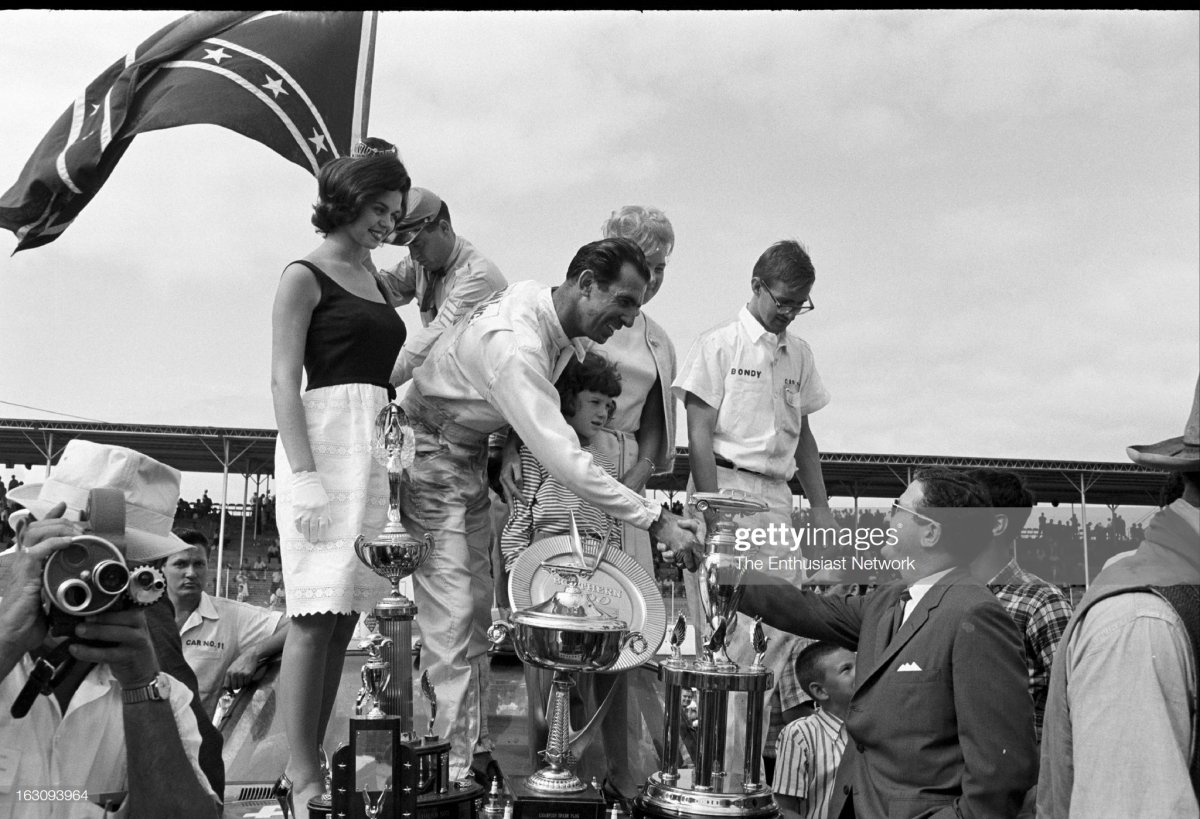 8 Darlington Southern 500 Stock Car Race. Ned Jarrett with wife, daughter, c.jpg