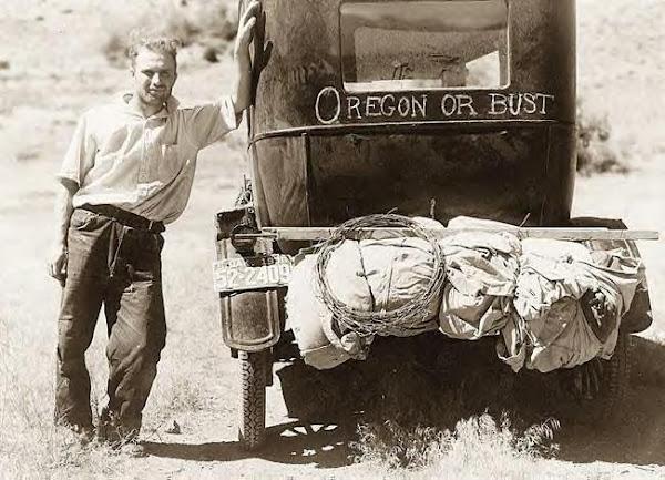 81 Evans, Vernon, of Lammon, SD_, near Missoula, Mont_, on Highway 10, 1936.JPG