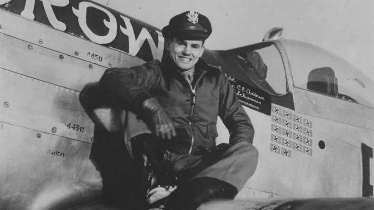 86 Bud Anderson became a triple ace during the war with 16 ¼ victories in the skies over Europe,.jpg