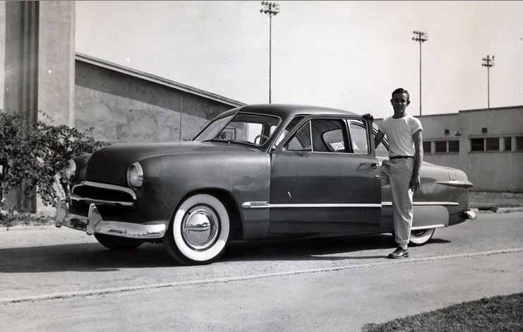 A rare photo of Junior Conway's 1950 Ford as it appeared when Junior's.JPG