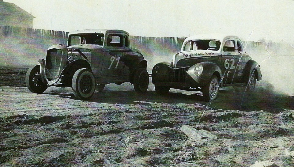 Action at Opa Locka Speedway_ possibly around 1948-49 - #62 is Alan Clarke___.jpg