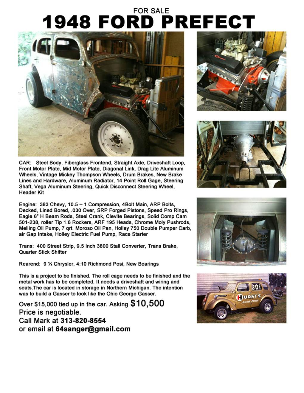 Posting this for a friend / 1948 Prefect Gasser Project for