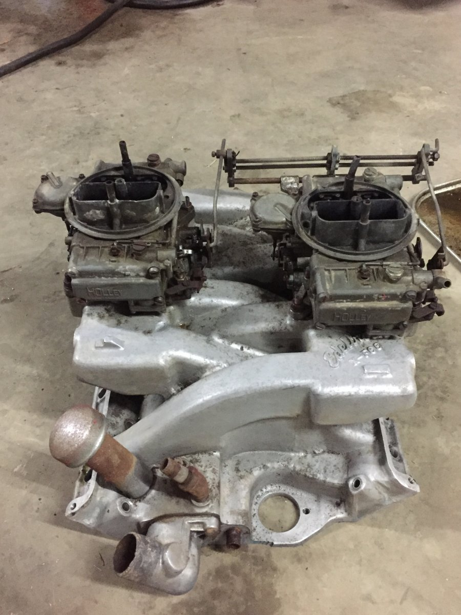 SOLD!!Edelbrock xf-66 ford FE dual quad crossram | The H A M B