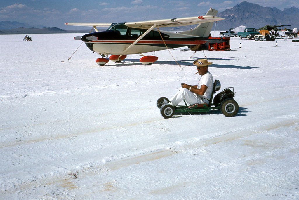 Ak Miller in Jeffs go kart 1964 Bonneville (2).jpg