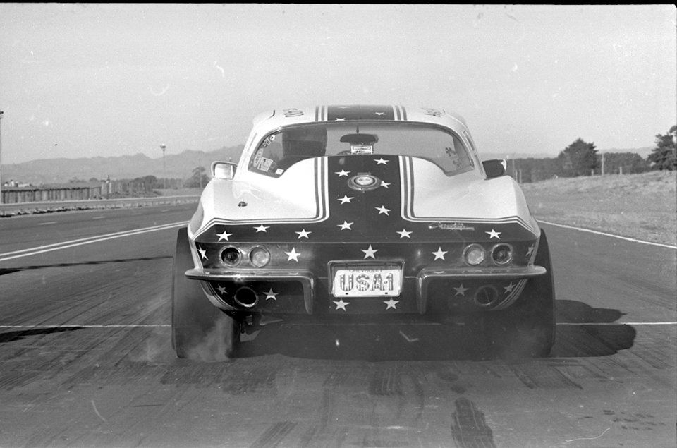 Alan Edwards' Corvette, moments after blast-off..jpg