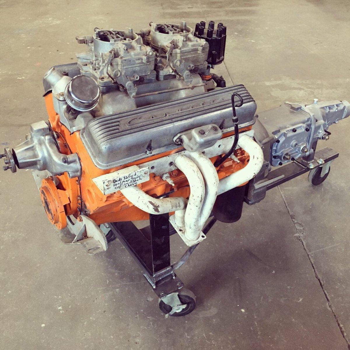 Ansen Bellhousing Autogear M23 Dual Quad 283 Headman Headers.jpg