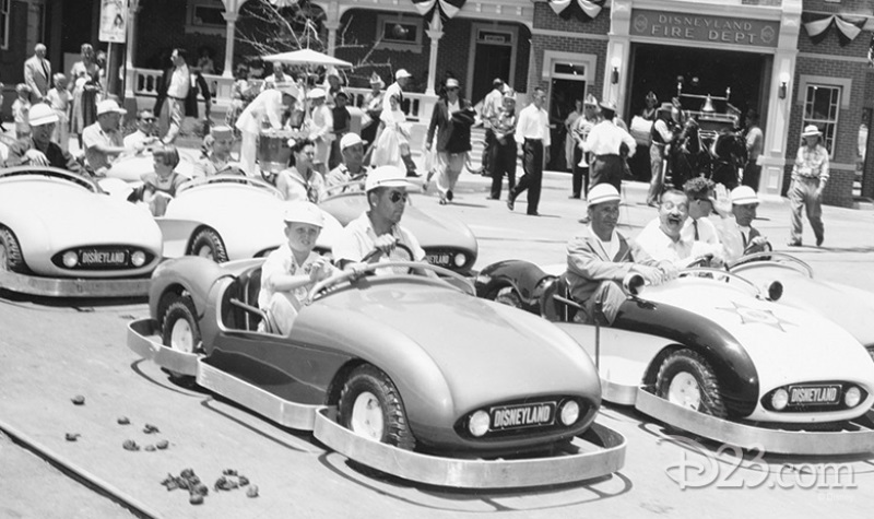 Autopia cars riding down Main Street, USA.jpg