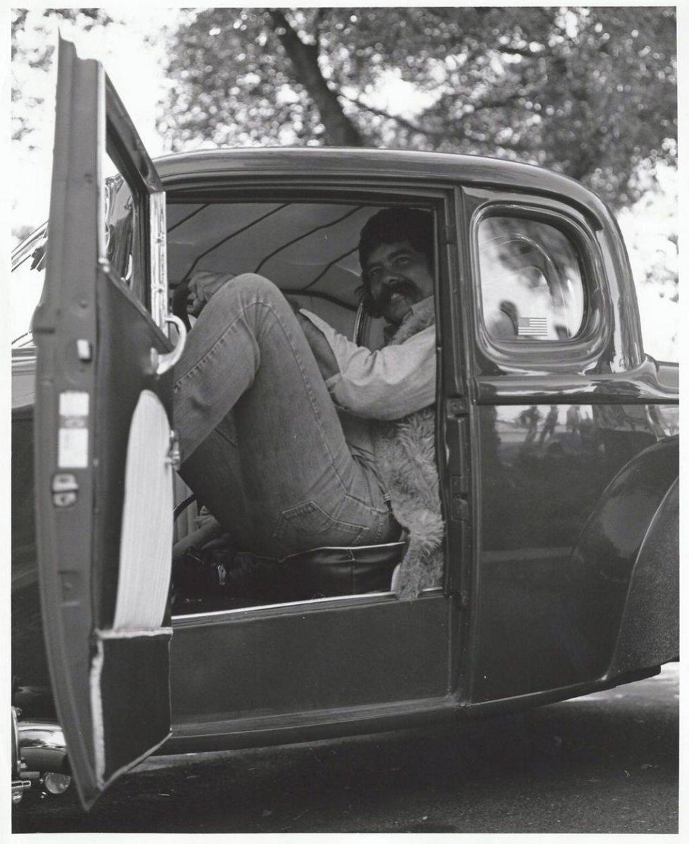 Big Art Branum in the HEMI32 Coupe (circa early '70s).jpg