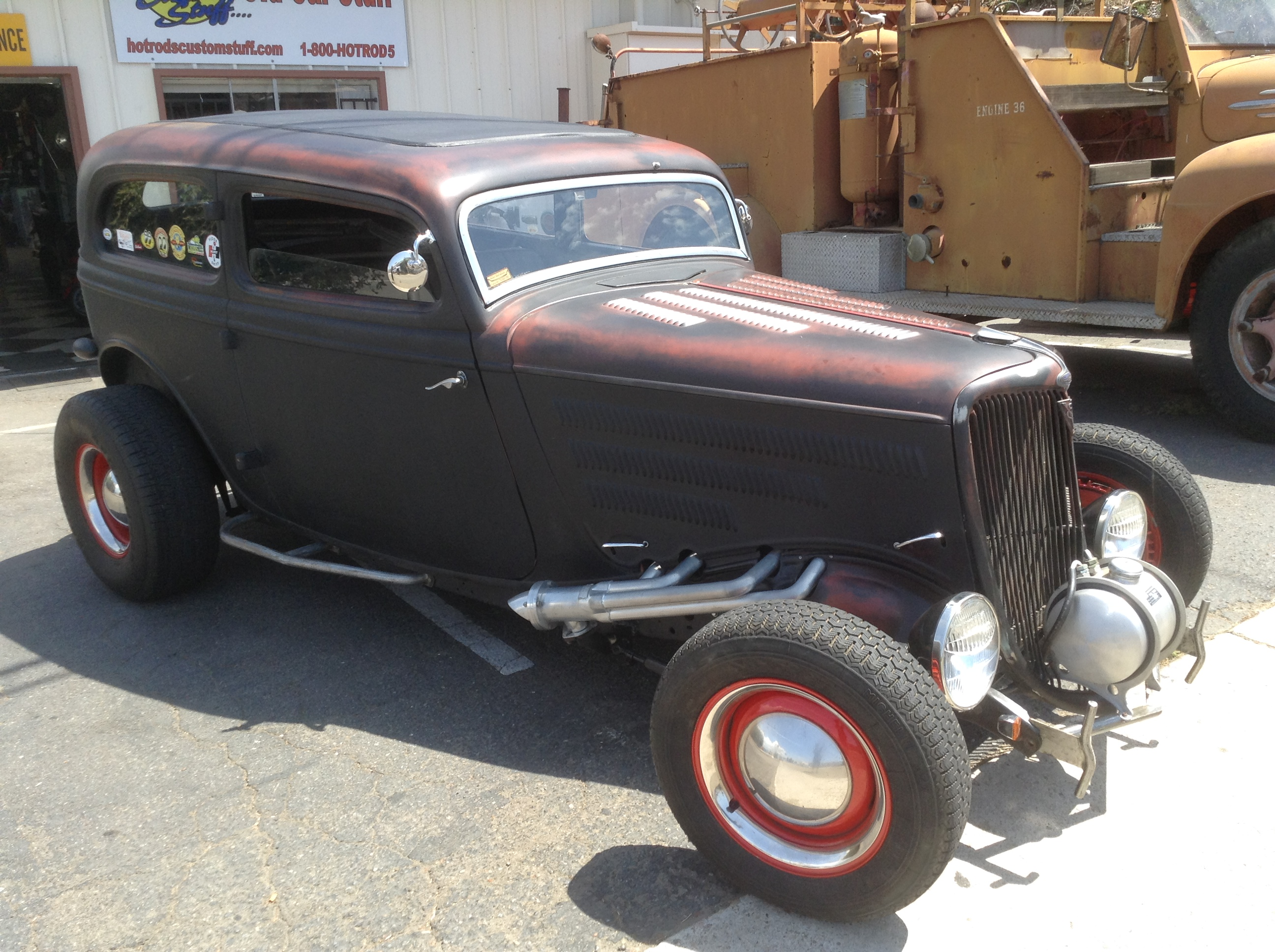 SOLD PLEASE REMOVE 1934 Ford Tudor Sedan Steel w/ Buick Nailhead ...
