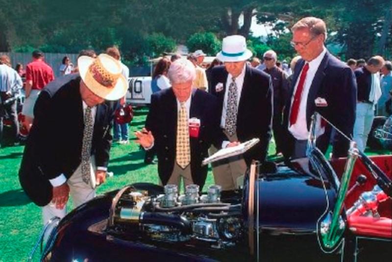 Brock, Gross, Xydias, & Montgomery - Historic Hot Rod Class Judges @ 1997 PBCd'E.jpg