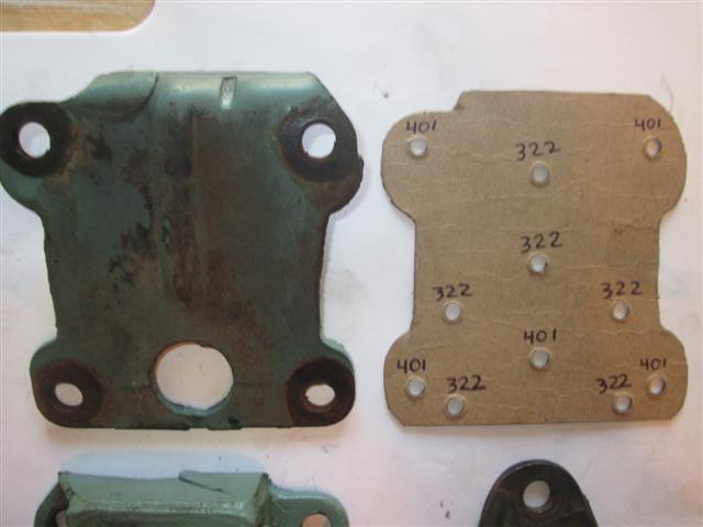 Technical - 1954 Buick Build 322 To 401 Motor Mount Template