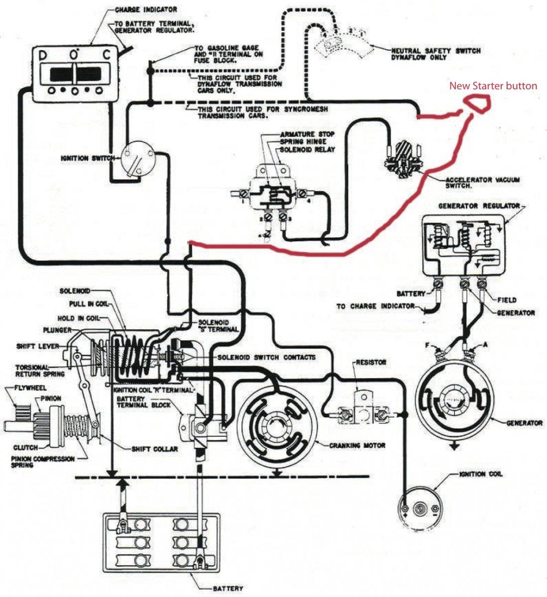 Buick Starter Generator Wiring Diagram Wire Center Hitachi Golf Cart Technical Help Needed 56 W 401 Nailhead The H A M B Rh Jalopyjournal Com