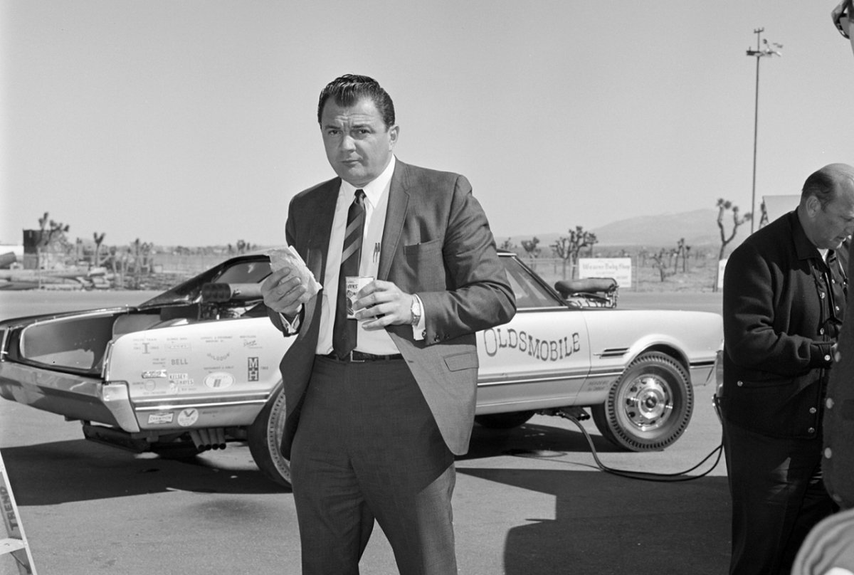 Candid Photo of Performance Icon George Hurst During Testing of the Hurst Hairy Oldsmobile.jpg