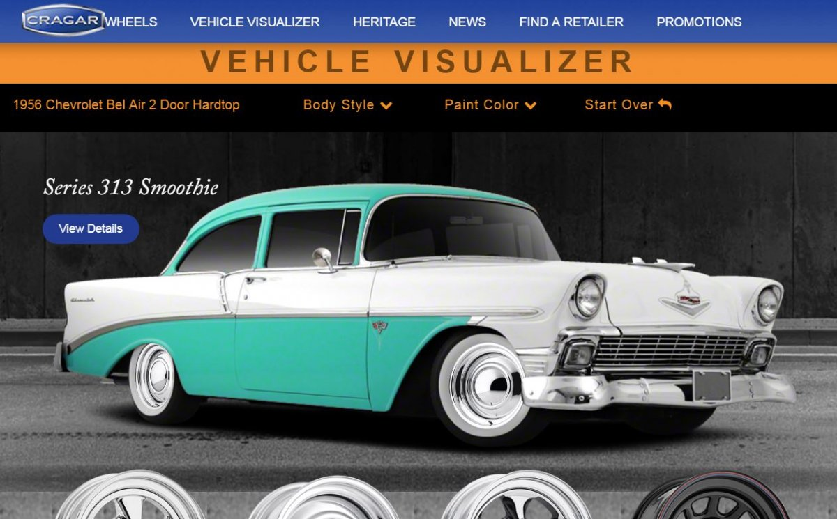 Car Visualizer: Technical - Cragar Vehicle Visualizer