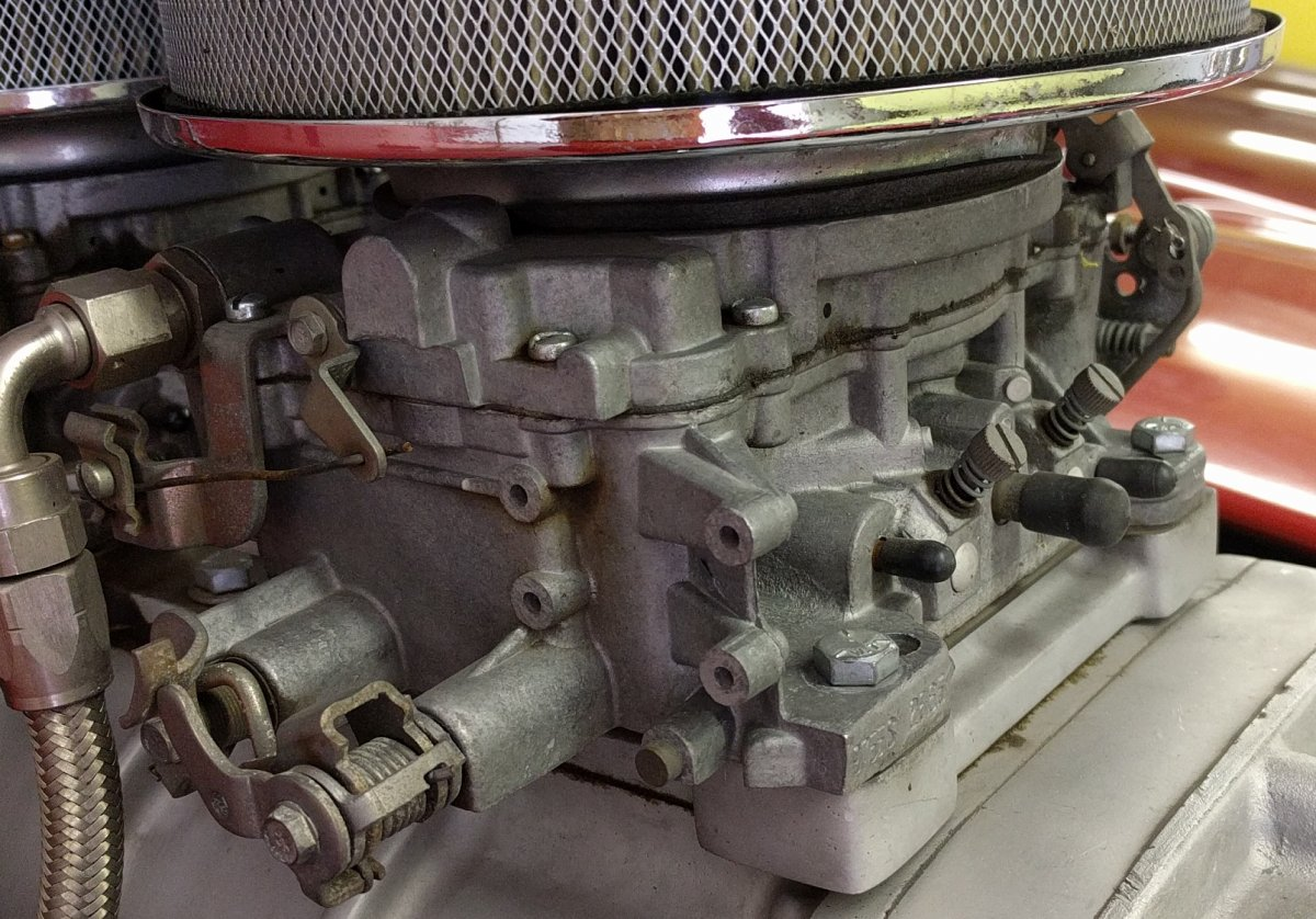 Hot Rods - How to make my Edelbrock carb look old?   The H A M B