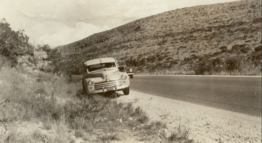 Carlsbad Caverns, New Mexico 1948 (and a 1947 Ford).JPG