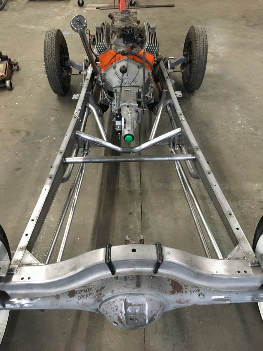 Chassis With Beginning Triangulation and Ladder Bar Fab.jpg