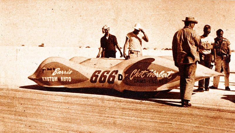 Chet Herbert 'Beast 4' streamliner - 1953 photo by Ralph Poole.jpg