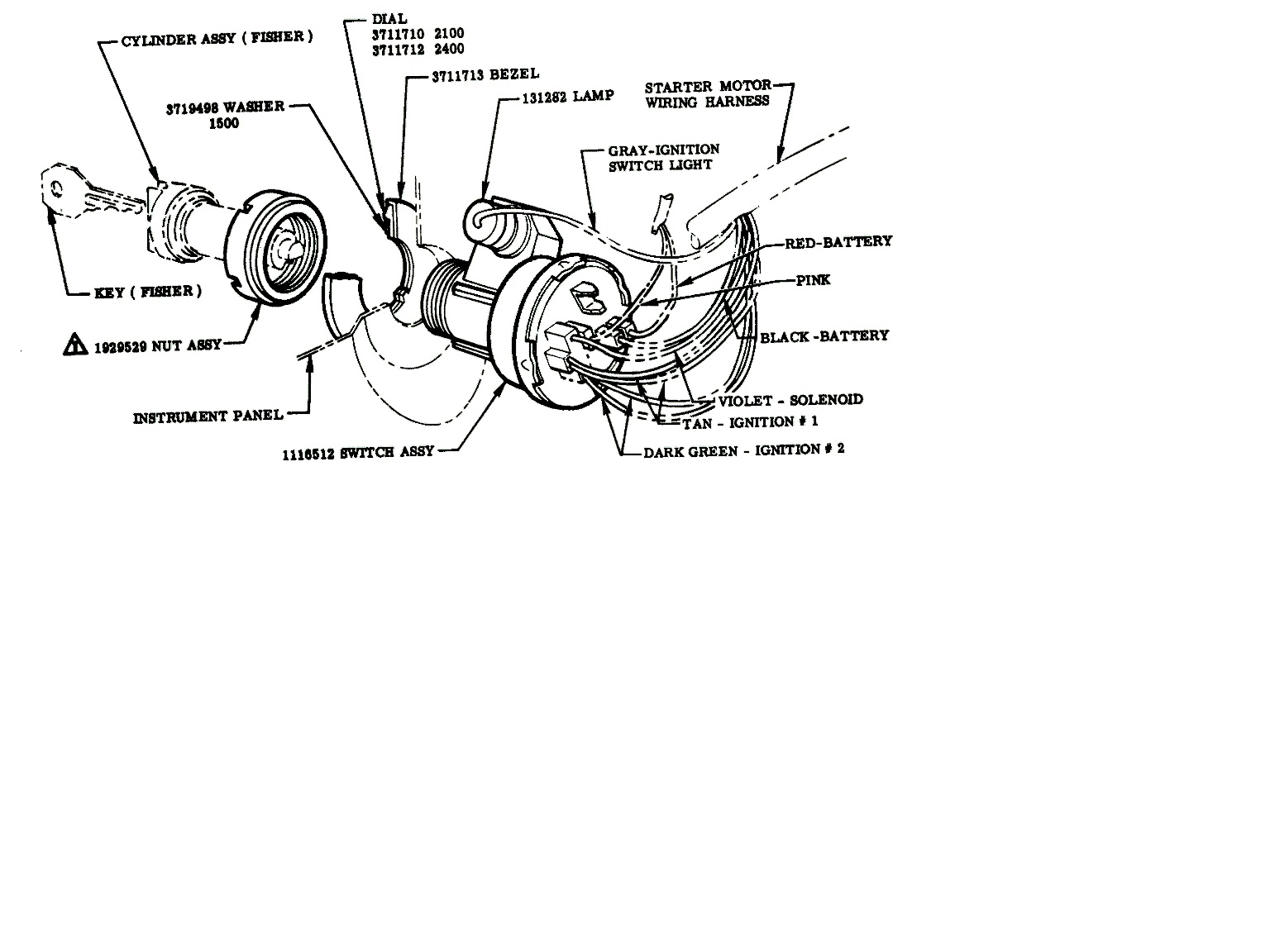1971 Chevy Blazer Wiring Diagram Simple Guide About Gm Column Further Truck Steering Technical Ignition Switch 1955 2