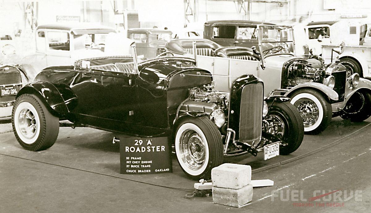 Chuck Brazier's '29 Hiboy & Jim Mack's '26 Tub at '66 GNRS.jpg