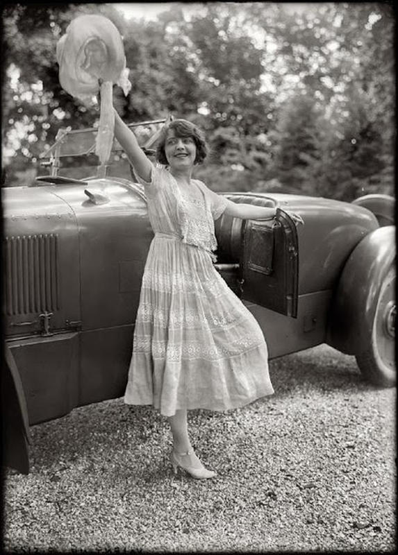 Circa 1920. Stage and film actress Grace Valentine and her Packard Twin Six roadster.jpg