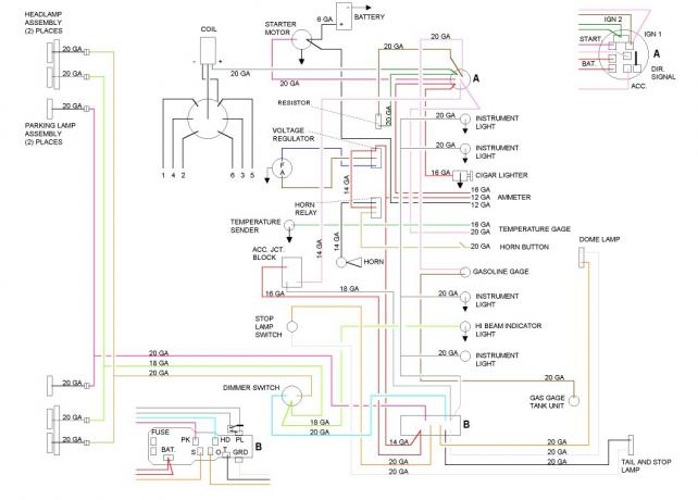 1955-56 Chevy Starter Wiring: Why Is There No \